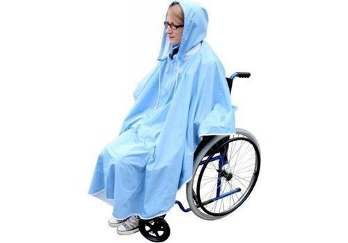 Regenponcho blauw voor fiets, rollator, rolstoel ps