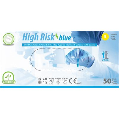 Medi-Inn High Risk Nitril extra lang blauw 50 st.