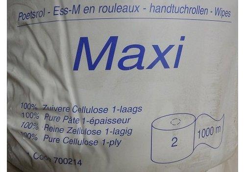 2x maxi poetsrollen 1 laags 1000 mtr
