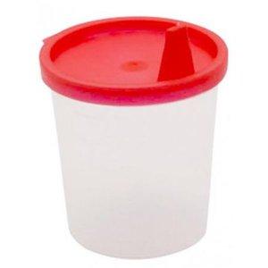 Medi-Inn Urinebekers met snap-on deksel en tuit Rood 125 ml - 10st