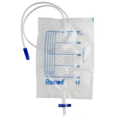 Romed 10x urinezakken 2 liter met ventiel en T-aftap 90cm slang