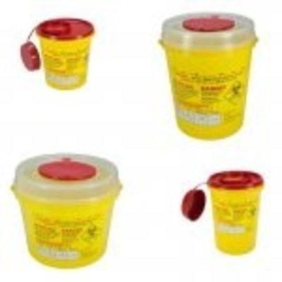MedicaMarkt Naaldencontainer 2 liter UN 3291 per 1 stuk