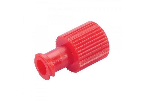 Afsluitdopjes injectiespuit rood p. 100st