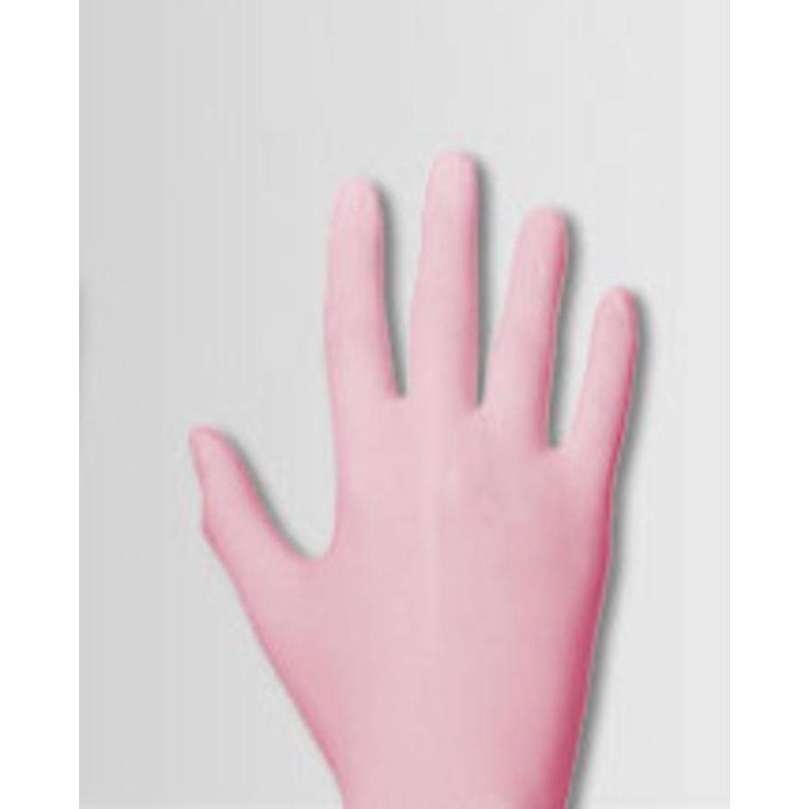 roze nitril handschoenen Pink Pearl p.doosje a 100