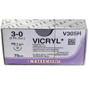 Ethicon Vicryl V305H 70cm hechtdraad p. pakje a 36st