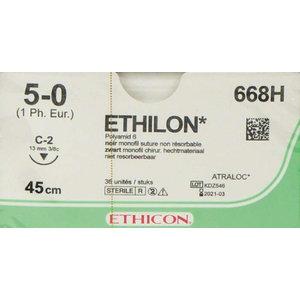 Ethicon Ethilon 5-0 668H naald C-2 p. pakje a 36st