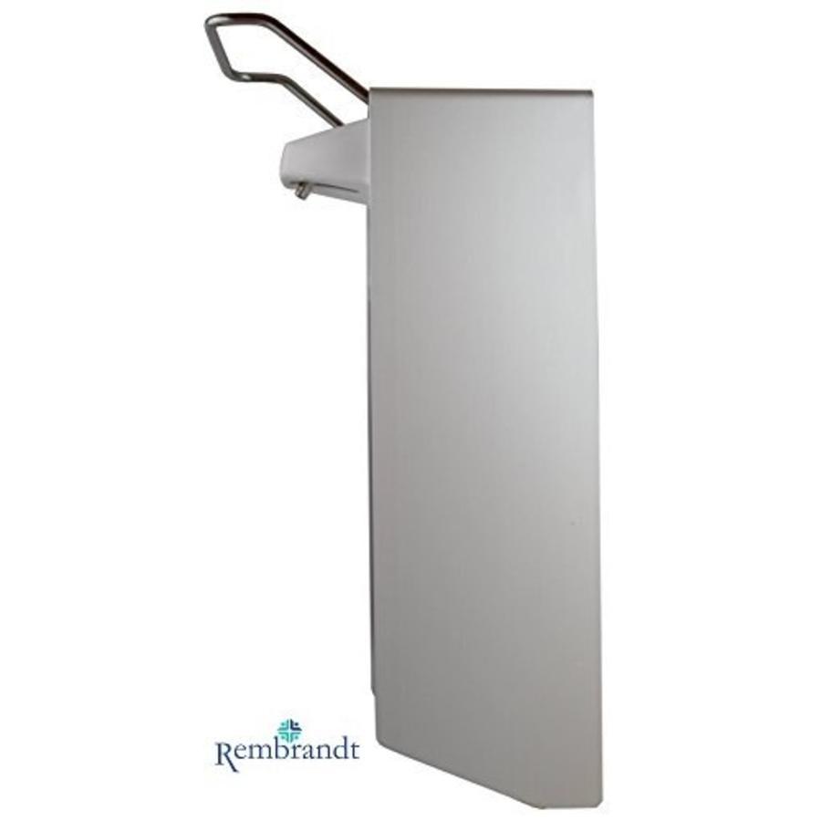 zeep dispenser aluminium 1000 ml met afsluitplaat