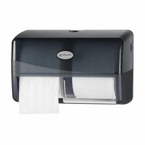 Pearl Line zwarte duo coreless toiletrol dispenser