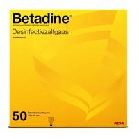 Betadine desinfectie zalfgaas steriel 10x10 50st