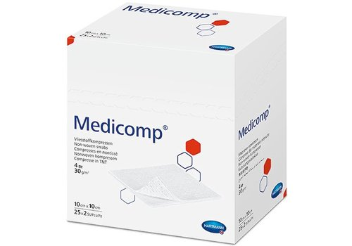 Medicomp non-woven kompressen 6 laag  p.pak
