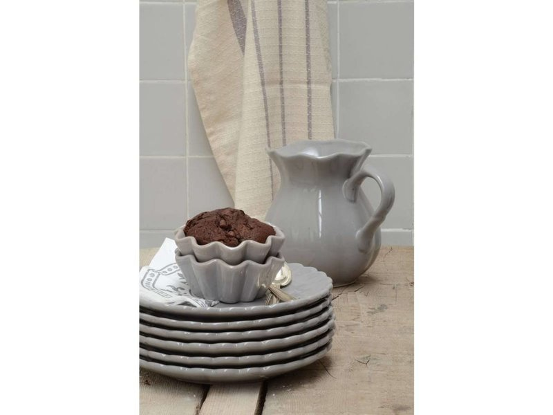 IB LAURSEN Muffinform Mynte Keramik in french grey