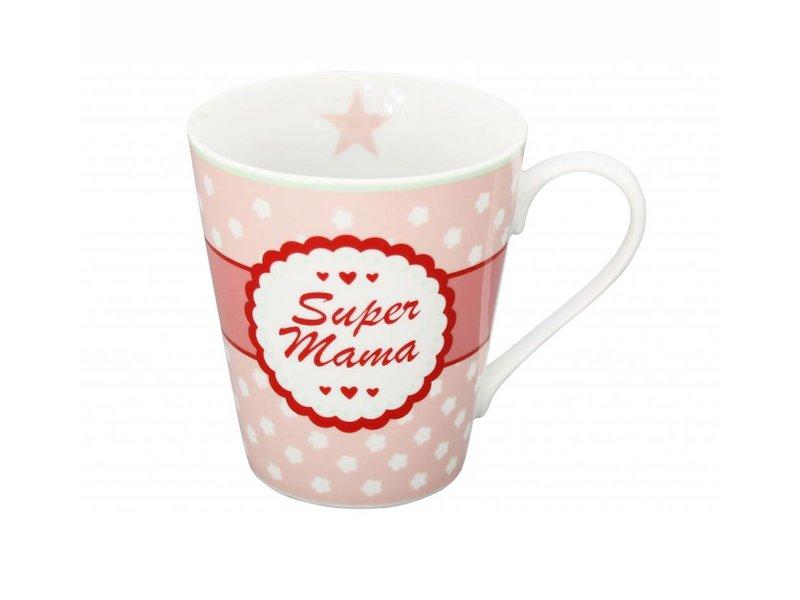 "Krasilnikoff Becher Happy Mug ""Super Mama"""
