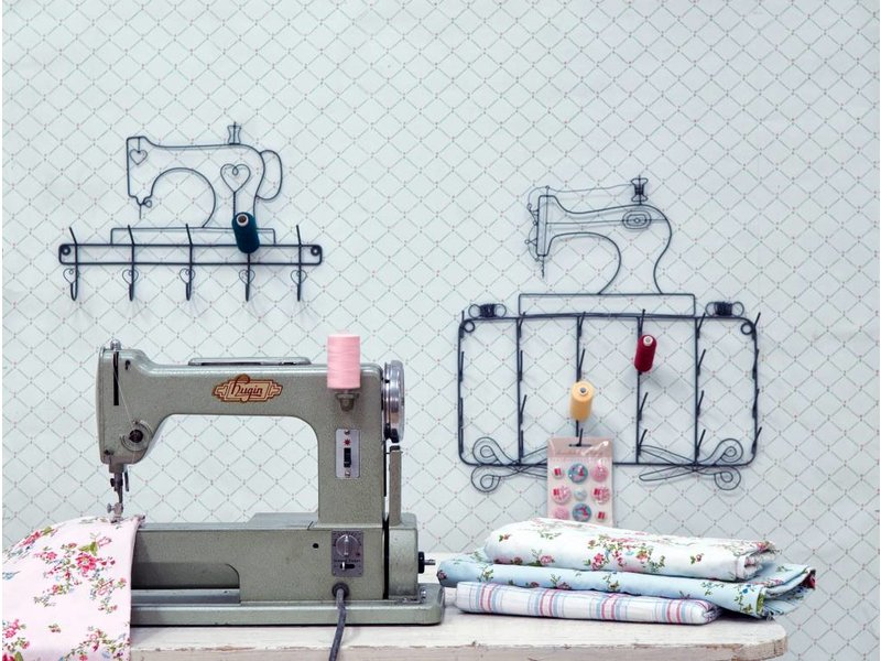 Krasilnikoff Garnrollenhalter Sewing machine noteboard
