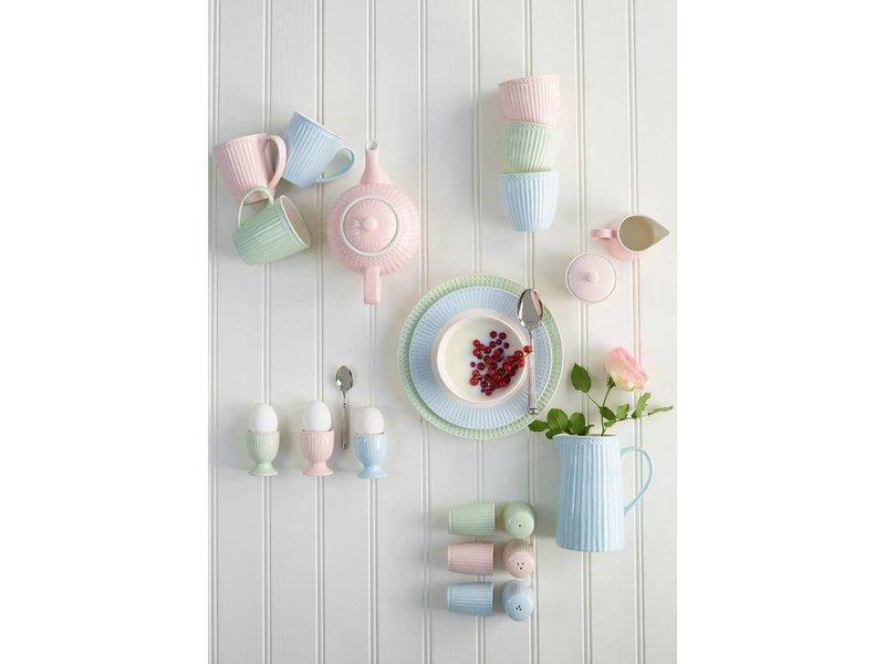 "GreenGate Frühstücksteller ""Plate Alice"" pale blue"