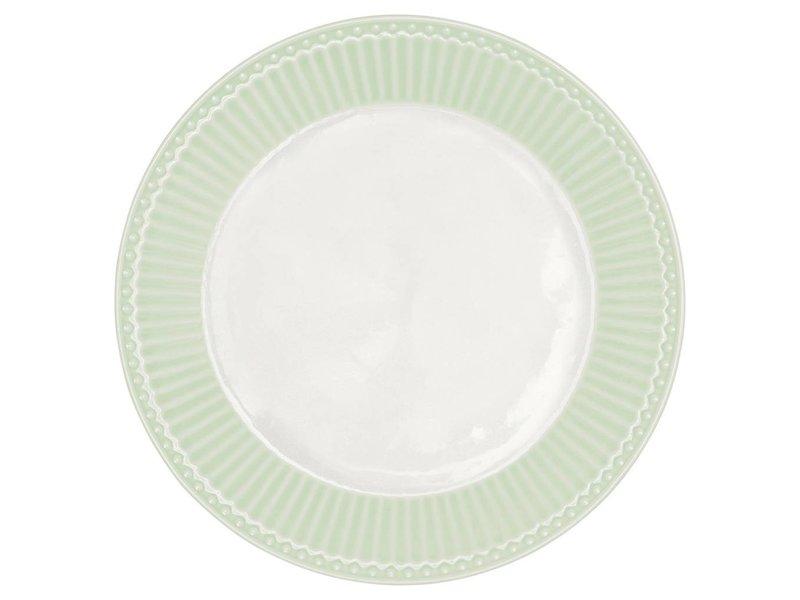 """GreenGate Frühstücksteller """"Plate Alice"""" pale green"""