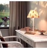 Nordika Lampenschirm türkis mit Blumen