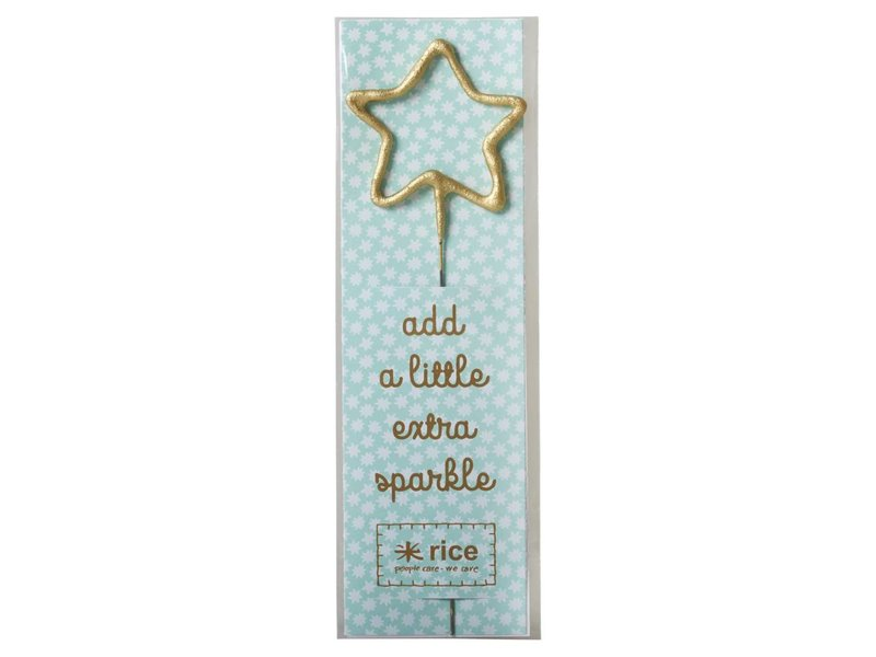 "rice dk Wunderkerze ""Golden Sparklers - Star"""