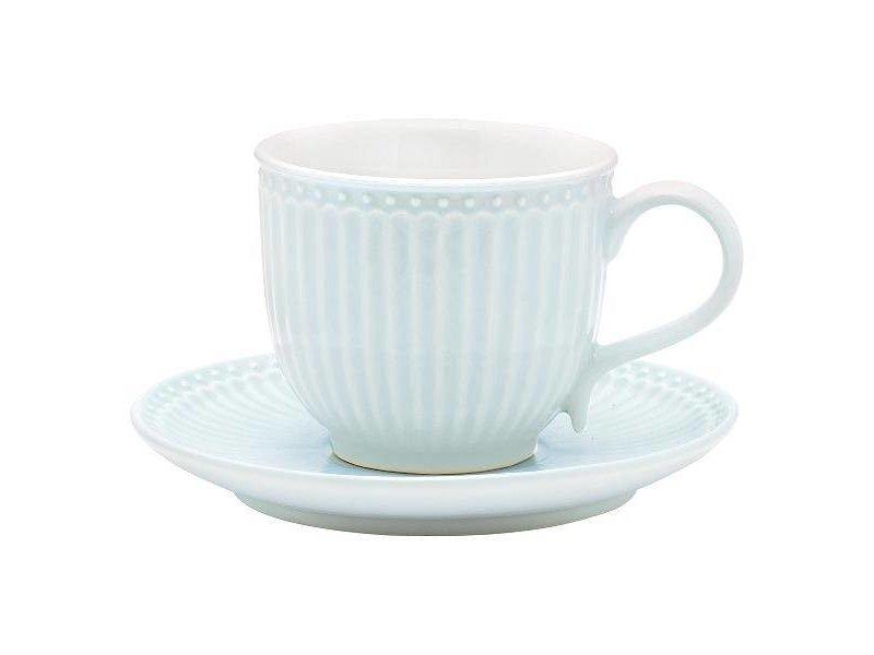"""GreenGate Tasse mit Unterteller """"Cup & saucer Alice"""" pale blue"""