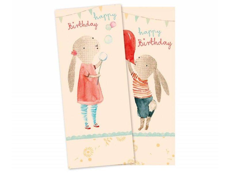 """Maileg Geburtstag-Servietten """"Happy Birthday"""" Hase"""