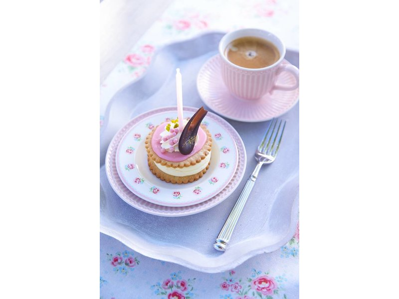 """GreenGate Tasse mit Unterteller """"Cup & saucer Alice"""" pale pink"""