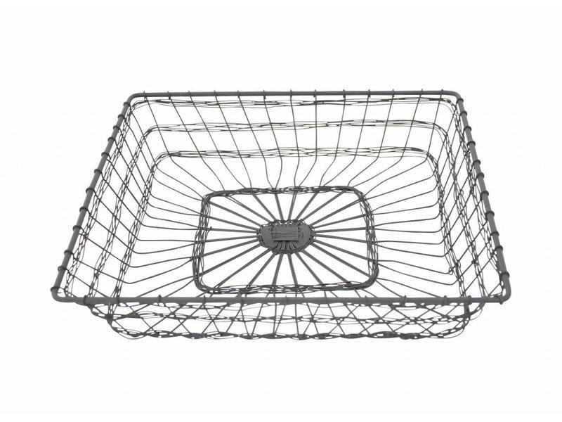 """Krasilnikoff Drahtkorb """"Basket square"""" klein"""