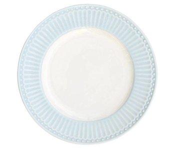 """GreenGate Kuchenteller """"Plate small Alice"""" pale blue"""
