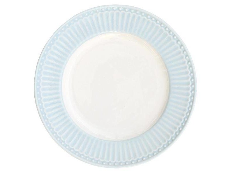 "GreenGate Kuchenteller ""Plate small Alice"" pale blue"