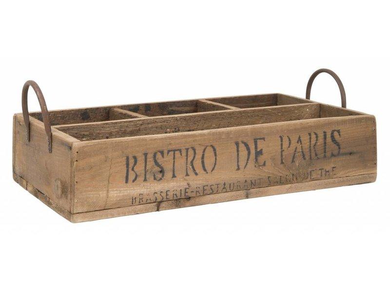 """IB LAURSEN Tablett """"Bistro de Paris"""" mit 4 Fächern"""
