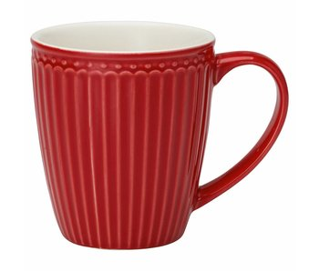"GreenGate Henkelbecher Mug ""Alice"" red"