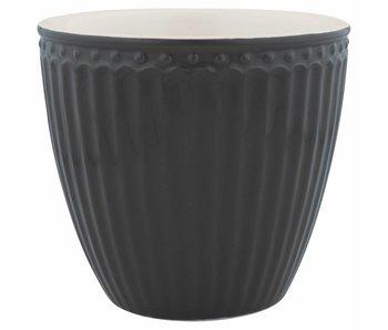 "GreenGate Latte cup ""Alice"" dark grey"