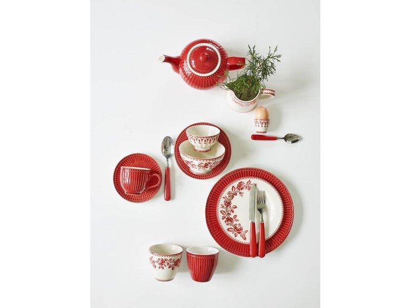"""GreenGate Essteller """"Dinner plate Alice"""" red"""