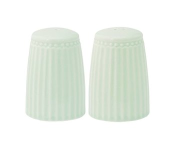 "GreenGate Salz- & Pfeffer-Streuer Set ""Alice"" pale green"