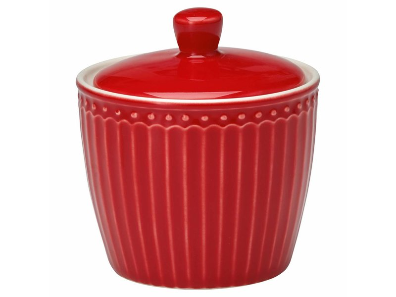 "GreenGate Zuckerdose ""Sugar pot Alice"" red"
