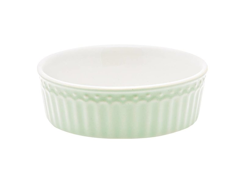 "GreenGate Ofenform ""Pie dish Alice"" pale green, S"