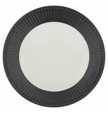 "GreenGate Frühstücksteller ""Plate Alice"" dark grey"