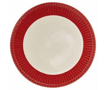 """GreenGate Frühstücksteller """"Plate Alice"""" red"""