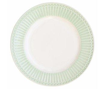 """GreenGate Kuchenteller """"Plate small Alice"""" pale green"""