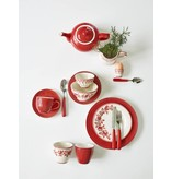 "GreenGate Kuchenteller ""Plate small Alice"" red"