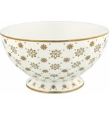 "GreenGate French French bowl xlarge ""Laurie gold"" NBC"