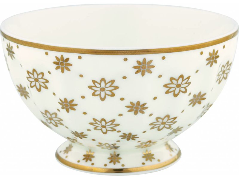 "GreenGate French bowl medium ""Laurie gold"" NBC"