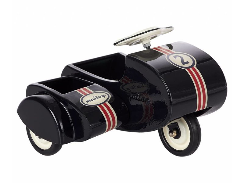 Maileg Motorrad mit Beiwagen, schwarz