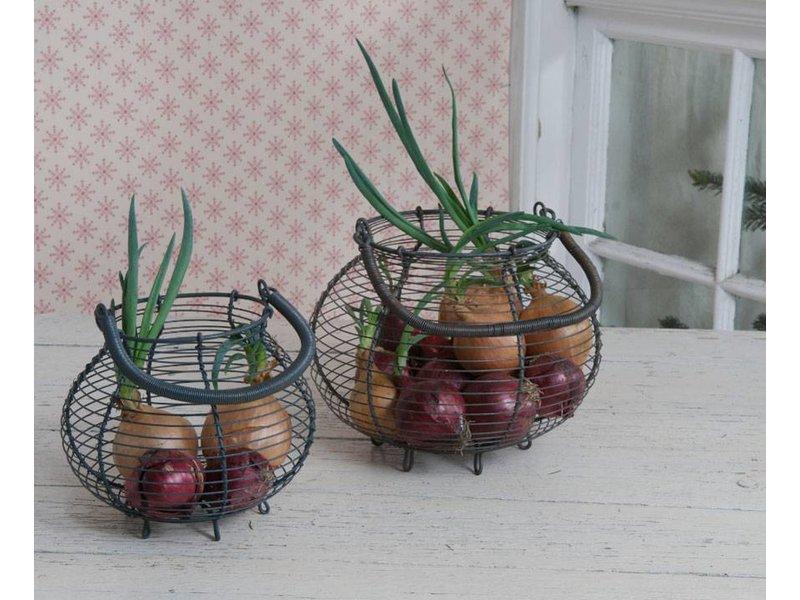 "Krasilnikoff Drahtkorb ""Eggbasket"" small"