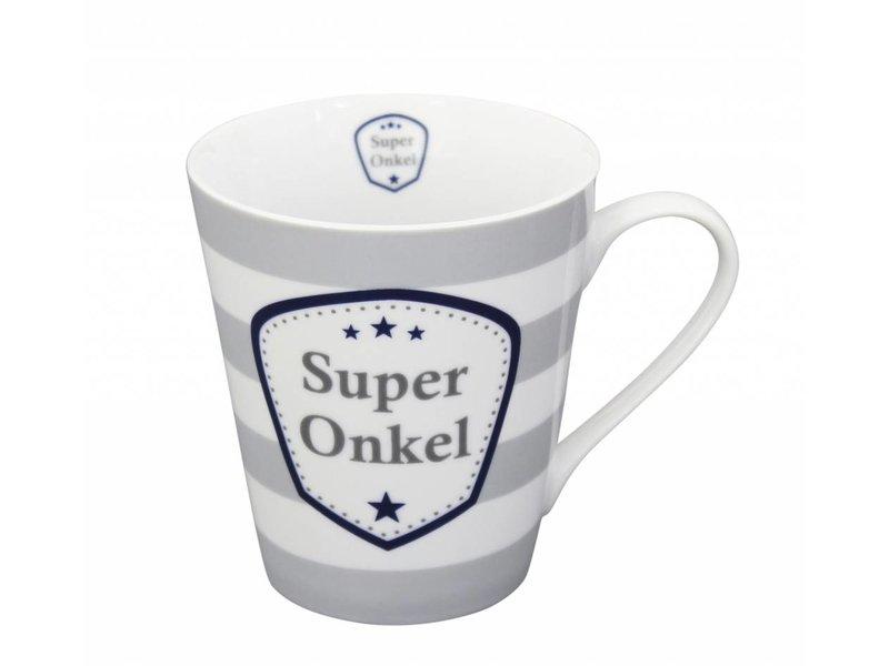 """Krasilnikoff Becher """"Super Onkel"""" grau"""