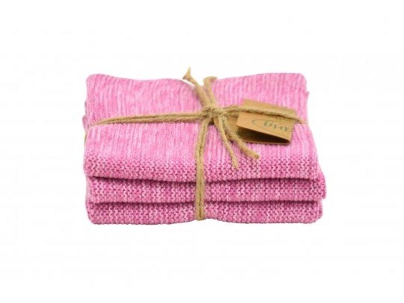 """Solwang """"Wischtuch"""" rosa, organisch, 3 Stück"""