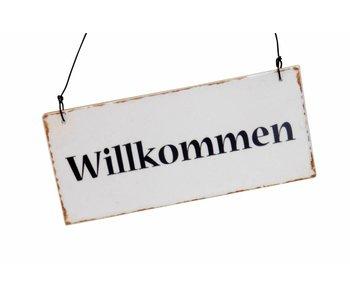 "IB LAURSEN Metallschild ""Willkommen"""