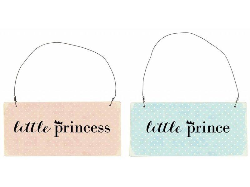 "IB LAURSEN Metallschild ""little Princess"" rosa"