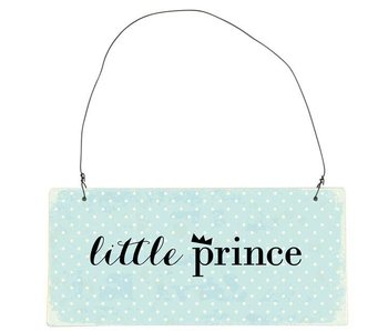 "IB LAURSEN Metallschild ""little Prince"" blau"