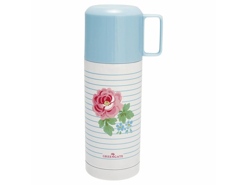 "GreenGate Thermosflasche ""Lily"" white, 350ml"