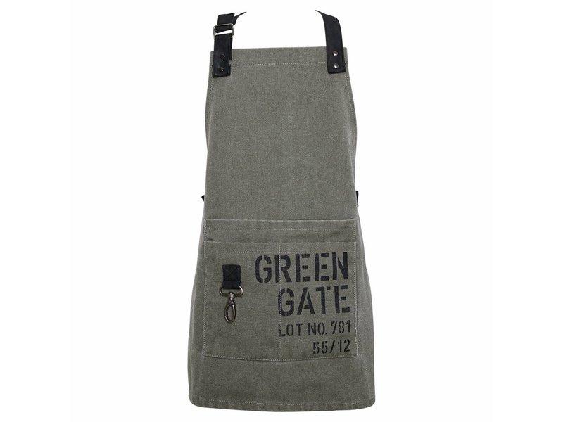 GreenGate Kinderschürze mit Metallanhänger khaki