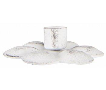 IB LAURSEN Kerzenhalter Blume, für schmale hohe Kerze, weiß
